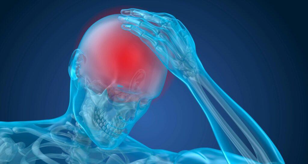 Man with head trauma